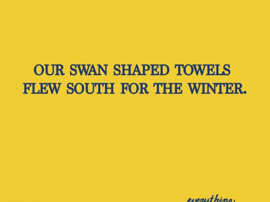 Scottish Inns Print Ad -  Towels
