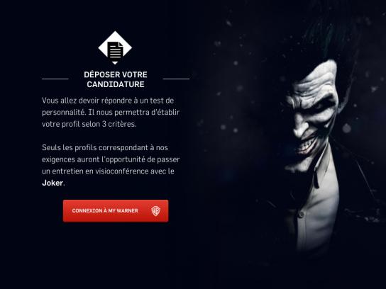 Batman Arkham Origins Digital Ad -  Job