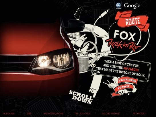 Volkswagen Digital Ad -  Fox Rock in Rio Route