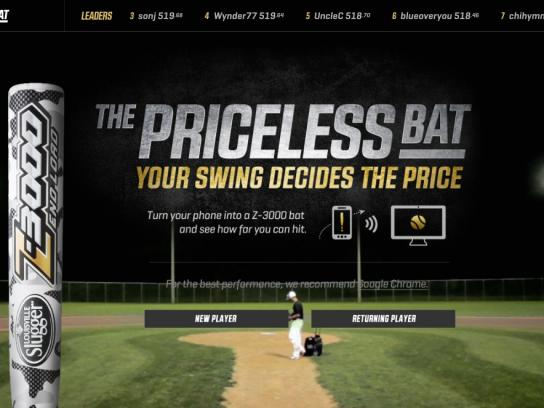 Louisville Slugger Digital Ad -  The priceless bat