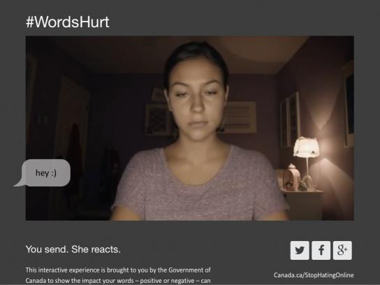 Public Safety Canada Digital Ad -  Words Hurt