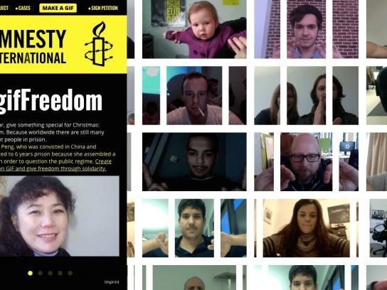 Amnesty International Digital Ad -  Gif Freedom