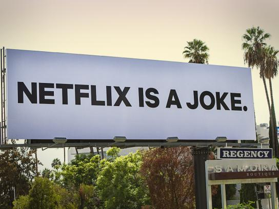 Netflix Outdoor Ad - Netflix Is A Joke