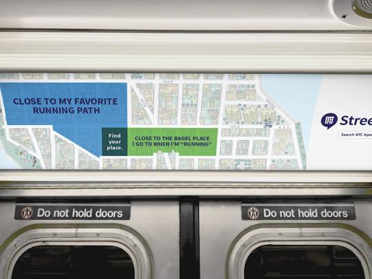 StreetEasy Outdoor Ad - Running Bagels
