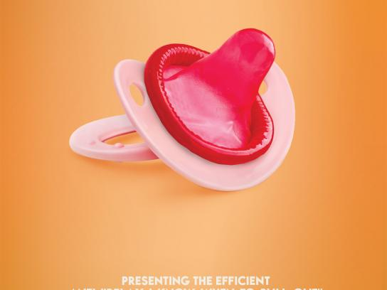 Sex and Contraception Education Society Print Ad - Baby Pacifier