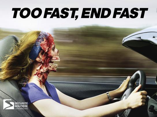 Sécurité Routière Luxembourg Print Ad - Ghost Driver