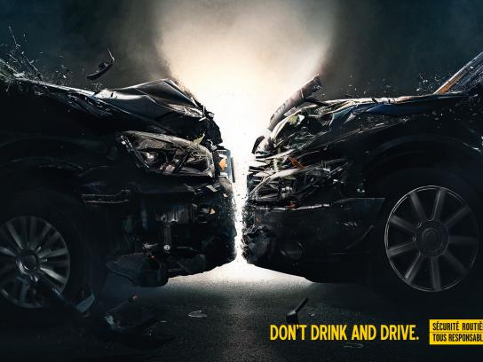 French Road Safety Print Ad -  Don't Drink & Drive