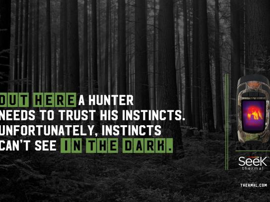 Seek Thermal Print Ad -  Forest
