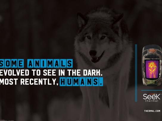 Seek Thermal Print Ad -  Wolf