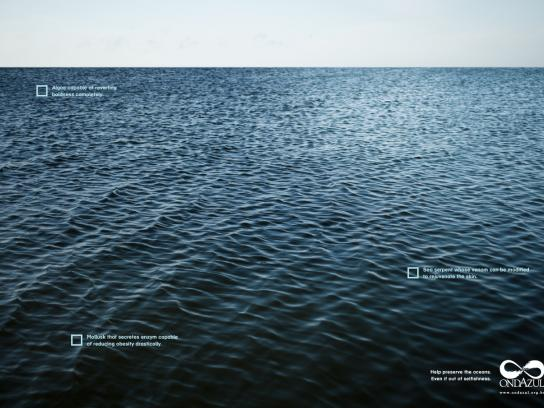 Onda Azul Print Ad -  Selfishness, 1