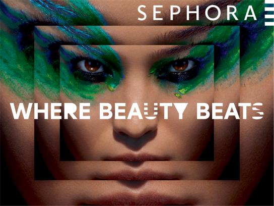 Sephora Print Ad -  Where beauty beats, 2