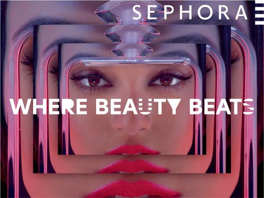 Sephora Print Ad -  Where beauty beats, 4