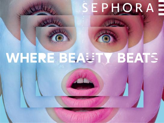 Sephora Print Ad -  Where beauty beats, 5