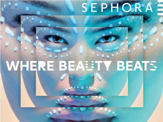 Sephora Print Ad -  Where beauty beats, 6