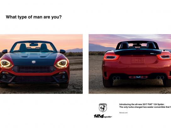 Fiat Print Ad - What type of man are you?