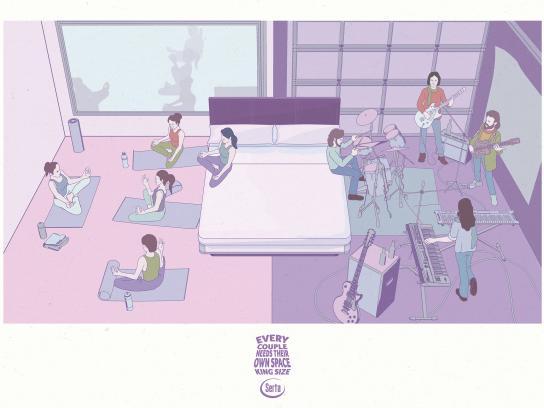 Serta Print Ad - Serta Yoga - Garage Band