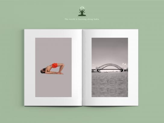 International Yoga Day Print Ad - Setu Bandhasana