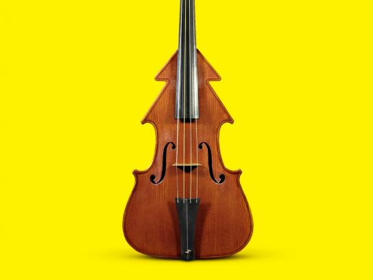 Scholz & Friends Print Ad -  X-mass Violin