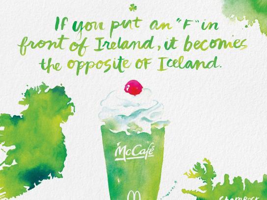 McDonald's Print Ad - Shamrock Shake - Fireland