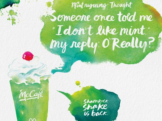 McDonald's Print Ad - Shamrock Shake - O'Really
