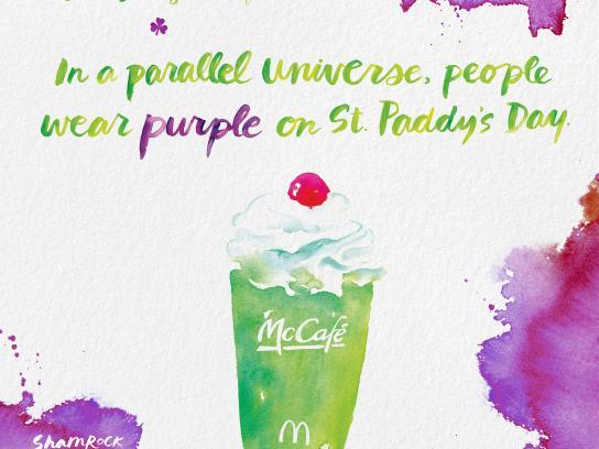 McDonald's Print Ad - Shamrock Shake - Universe