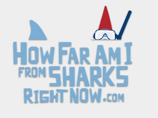Travelocity Digital Ad -  How far am I from sharks right now