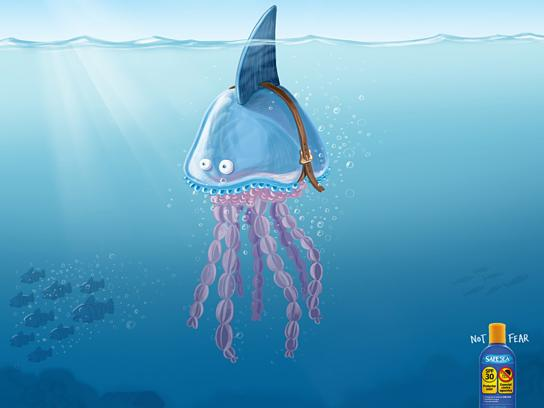 Safe Sea Print Ad -  Shark