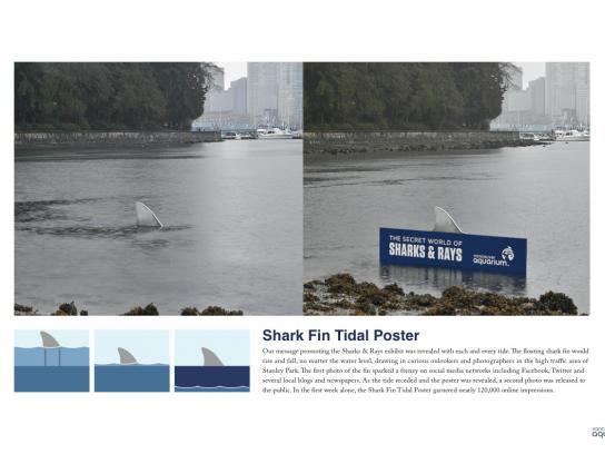 Vancouver Aquarium Ambient Ad -  Fin