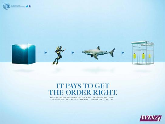 New York Lottery Print Ad -  Shark