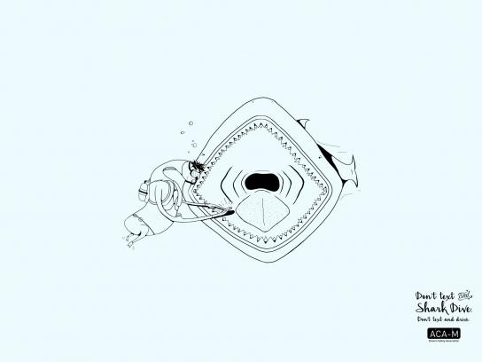 ACA-M Print Ad -  Shark dive