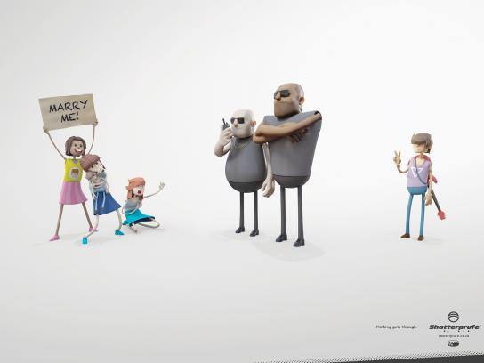 Shatterprufe Print Ad -  Groupies