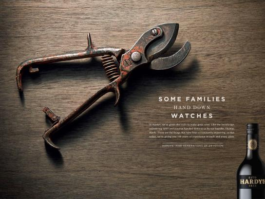 Hardys Wine Print Ad -  Shears