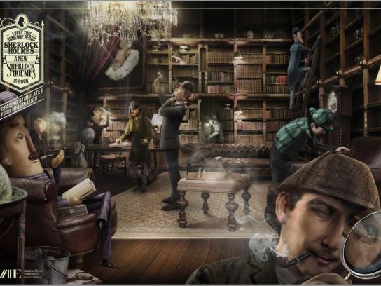 Madrid Book Publishers Association Print Ad -  Sherlock