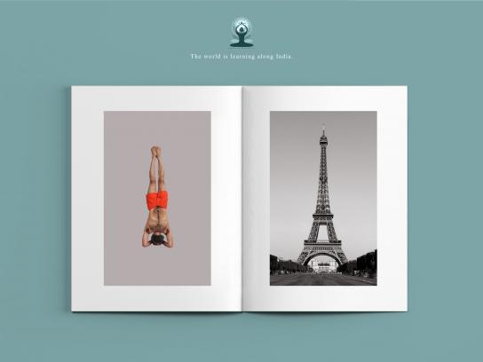 International Yoga Day Print Ad -  Shirshasana
