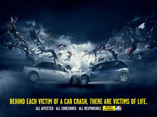 French Road Safety Print Ad - Shockwave