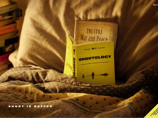 Shortology Print Ad -  Short is better, 2