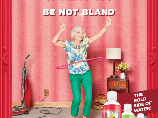 Sparkling Ice Print Ad - Be not bland - Hula hoop
