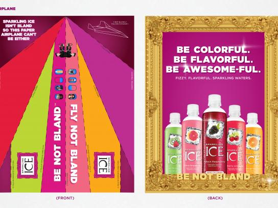 Sparkling Ice Print Ad - Be not bland - Airplane