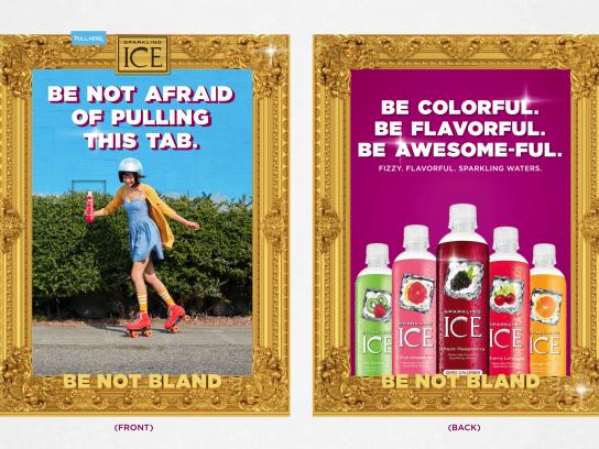 Sparkling Ice Print Ad - Be not bland