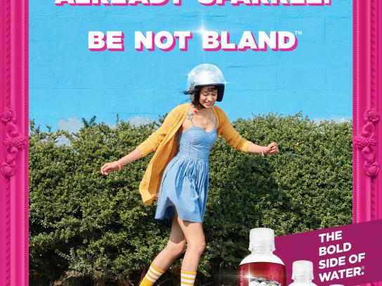 Sparkling Ice Print Ad - Be not bland - Skate