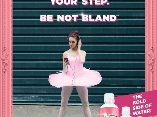 Sparkling Ice Print Ad - Be not bland - Ballerina