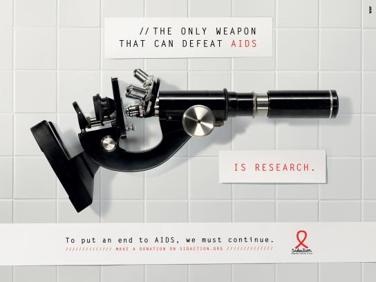 Sidaction Print Ad -  The weapon