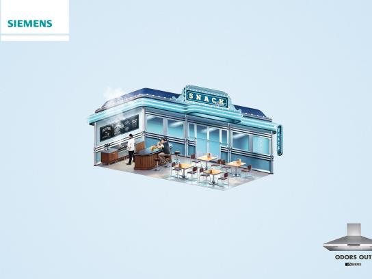 Siemens Print Ad -  Odors Out - snack bar