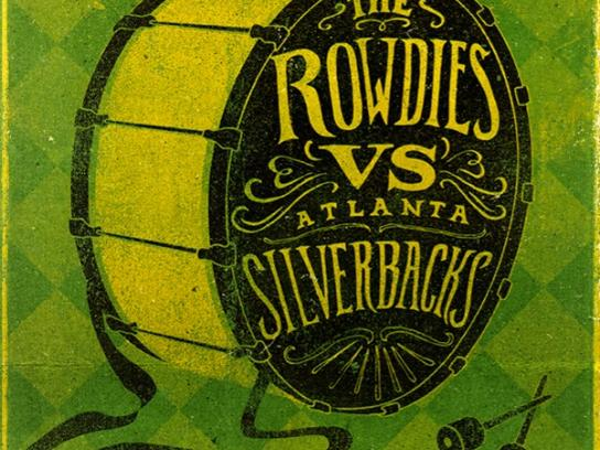 Tampa Bay Rowdies Outdoor Ad -  Rowdies vs. Atlanta Silverbacks