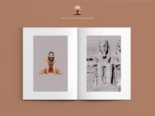International Yoga Day Print Ad - Simhasana