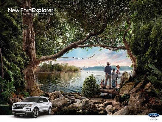 Ford Outdoor Ad - Fishing