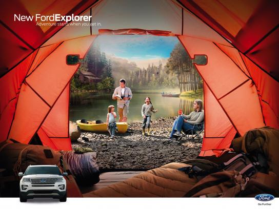 Ford Outdoor Ad - Camping