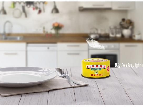 Sirena Tuna Digital Ad - Big in size, light in calories