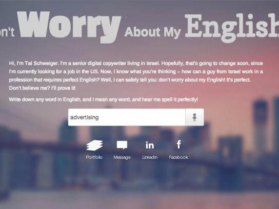 Don't worry about my English
