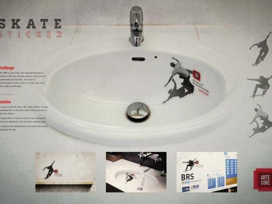 Arte Core Ambient Ad -  Skate sticker